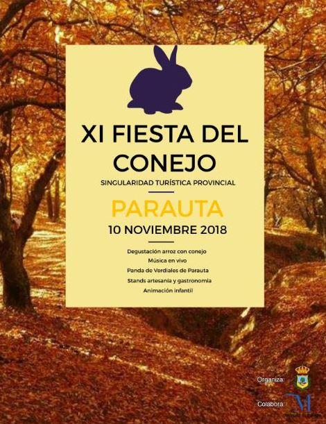 Plakat reklamujący Fiesta del Conejo. Foto: Ayuntamiento de Parauta.