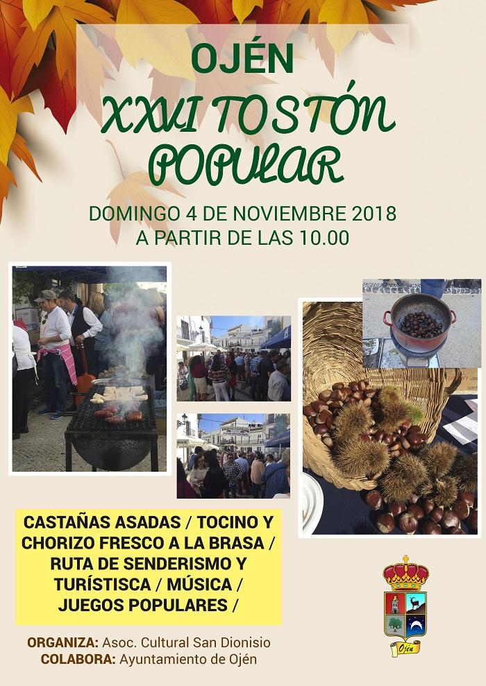 Plakat reklamujący Tostón Popular. Foto: Ayuntamiento de Ojén