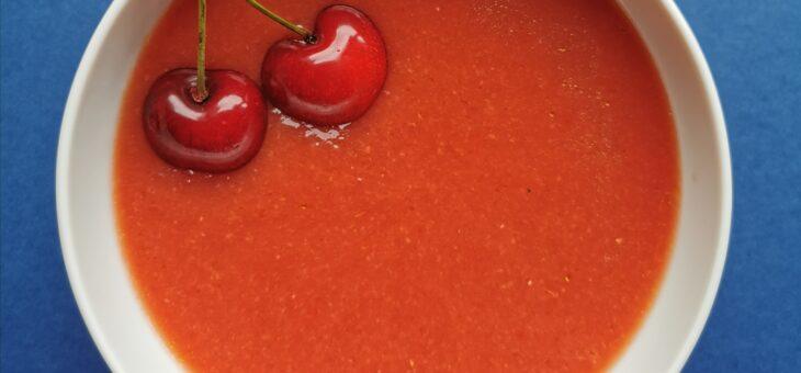 Gazpacho z czereśniami