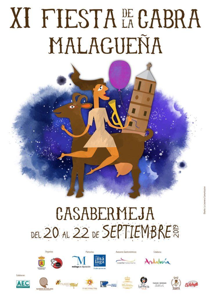 Plakat reklamujący Fiesta de la Cabra Malagueña w Casabermeja. Foto: Ayuntamiento de Casabermeja.