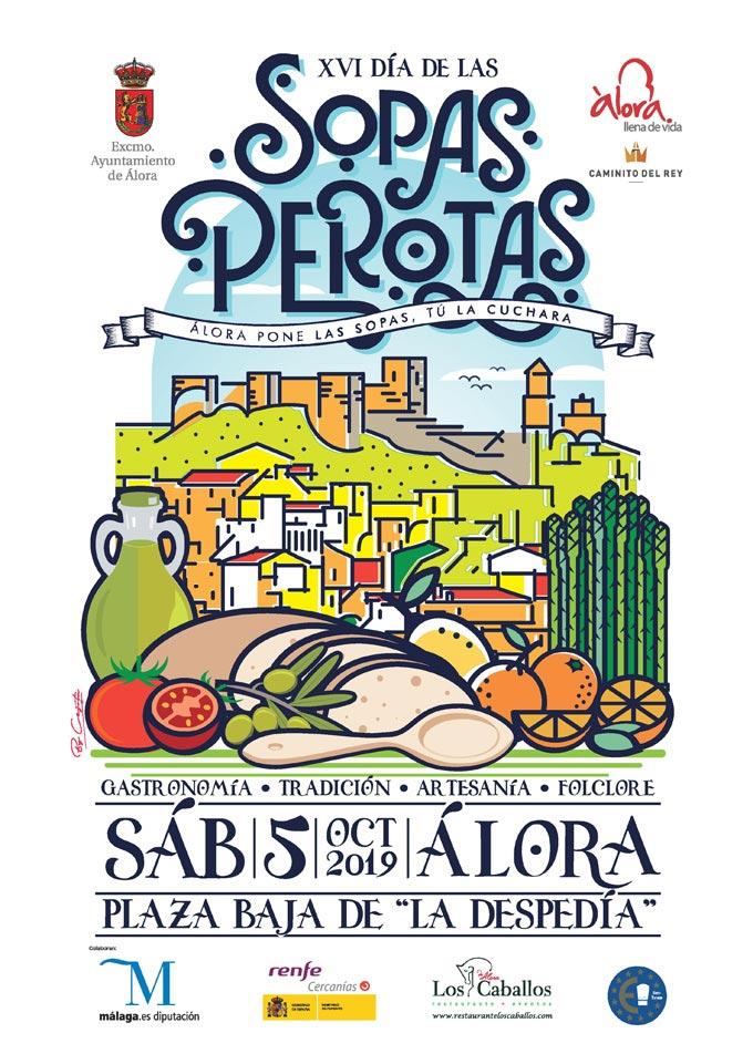 Plakat reklamujący Día de las Sopas Perotas w Álora. Foto: Ayuntamiento de Álora.