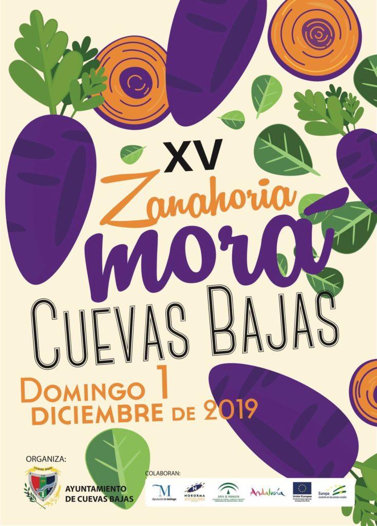 Plakat reklamujący Fiesta de la Zanahoria Morá. Foto: Ayuntamiento de Cuevas Bajas.