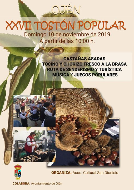 Plakat reklamujący Tostón Popular. Foto: Ayuntamiento de Ojén.